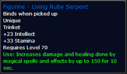 Living Ruby Serpent