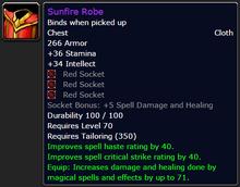Sunfire Robe