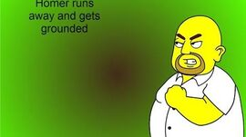 Homer runs away and gets grounded