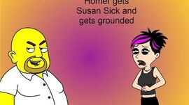 Homer gets Susan sick and gets grounded