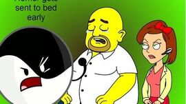 Homer gets sent to bed early