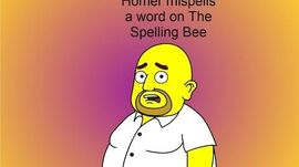 Homer mispells a word on The Spelling Bee
