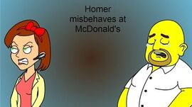 Homer misbehaves at McDonalds