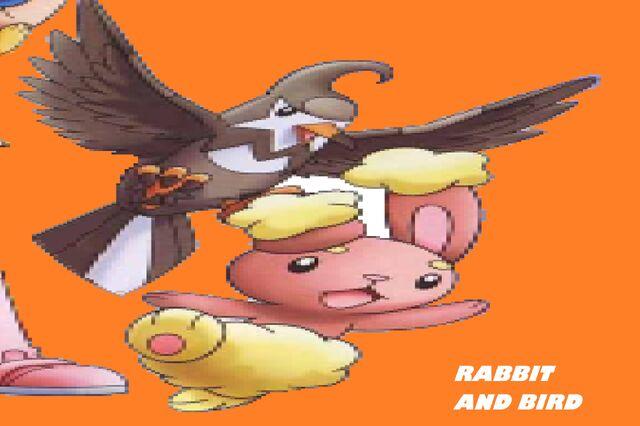 File:Rabbit and bird.jpg