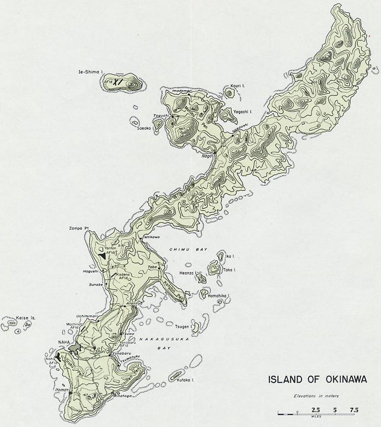 Okinawa (island) | The Pacific Wiki | FANDOM powered by Wikia on map of greece ww2, map of libya ww2, map of russia ww2, map of netherlands ww2, map of france ww2, map of india ww2, map of new guinea ww2, map of belgium ww2, map of philippines ww2, map of japan ww2, map of poland ww2, map of pacific battles ww2, map of asia after ww2, map of the pacific ww2, map of hiroshima ww2, map of iwo jima ww2, map of germany ww2, map of vietnam ww2, map of china ww2, map of tobruk ww2,
