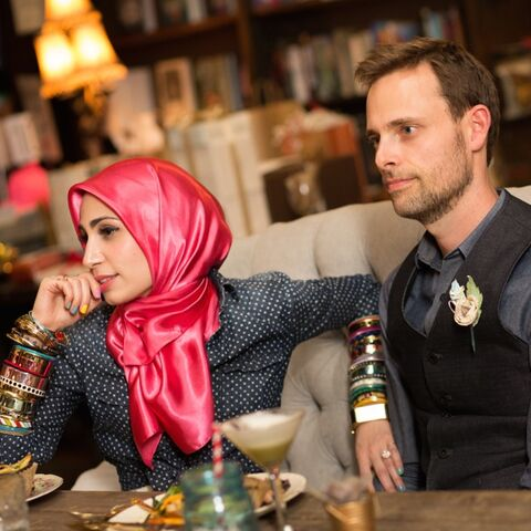 Ransom Riggs with his wife, Tahereh Mafi