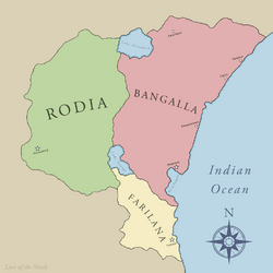 Bangalla Political Map