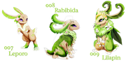 Pokemon 7th Generation Grass Starters