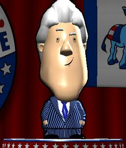 Bill Clinton in The Political Machine 2008