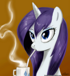 OCTAVIASVINYL 81994 - blue choco chocolate color cute drinking edit eyes hair hot mane rarity wet