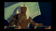 Rameses and his son holding onto each other during the plague of flies