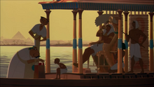 Rameses with his son on his royal boat
