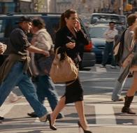 Margaret Tate walking to work