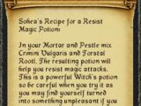 Sohea's Resist Magic Recipe