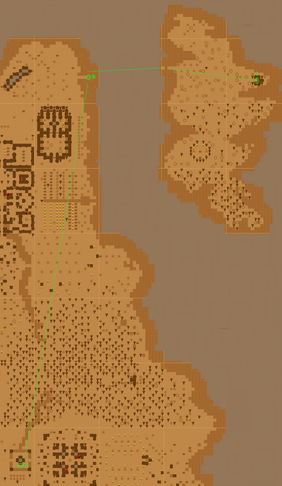 Go To The North-East Island Quest Map