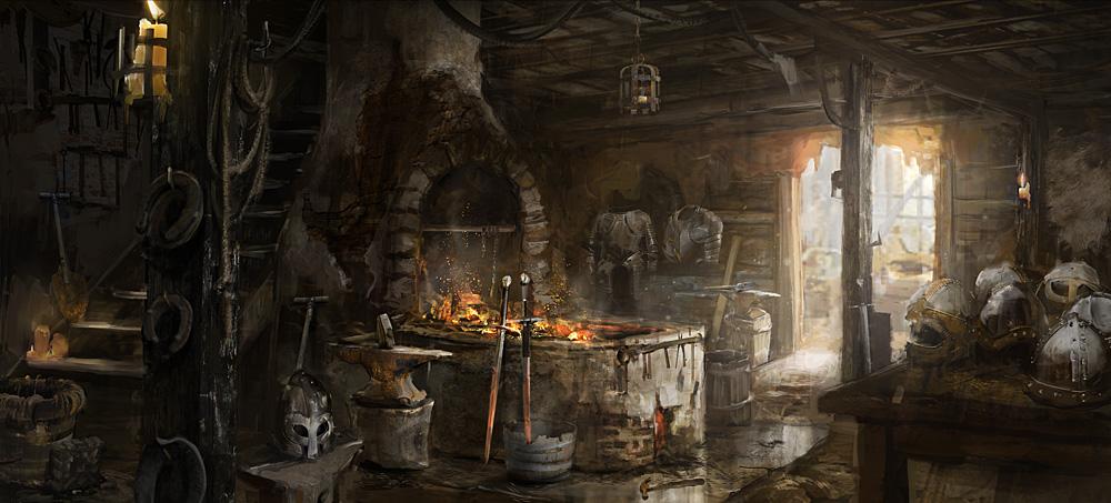 Medieval Shop Concept Art