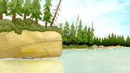 S4E32.042 Benson Jumping Into the Lake