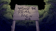 S5E35.082 Wings for Real Men Sign