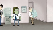 S7E25.108 Gil Struggling with the Water Cooler Bottle