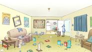 S7E07.078 Benson's Messy Cat-Filled Apartment