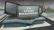 S8E03.182 Benson Running into the TV Store Warehouse