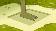 S6E19.112 Rigby Stepping on a Booby Trap