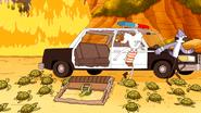 S6E15.227 Mordecai and CJ Escaping the Police Car