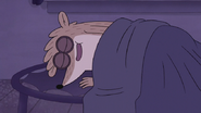 S7E24.263 Rigby Happily Sleeping on Trampy