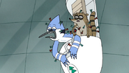 S7E05.423 Mordecai and Rigby Covered with Darts