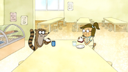 S7E27.005 Rigby and Eileen Eating Sandwiches