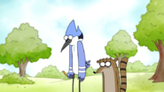 S5E12.399 Mordecai and Rigby Still Sad About Their Family