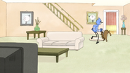 S4E13.020 Mordecai and Rigby Running Out of the House