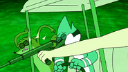 S4E24.213 Mordecai and Rigby Being Hit By a Tonfa