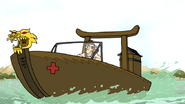 S6E26.120 Jerry Escaping Using a Boat