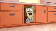 S4E17.194 Muscle Man Hiding Inside a Cabinet