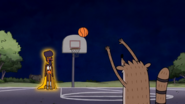 S3E16 Rigby Shots On Basket