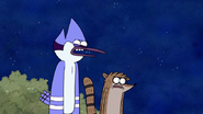 S4E12.191 Mordecai and Rigby Disgusted with Muscle Man and Starla's Kissing