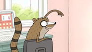 S3E25 Rigby telling Mordecai he signed him up 2