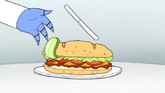 S6E27.090 Sanwich Slapping the Knife Away