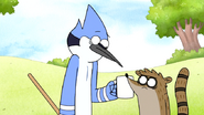 S7E11.084 Mordecai and Rigby Thinking About the Guy