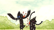 S3E35.149 Mordecai and Rigby Hit by More Tomatoes 02