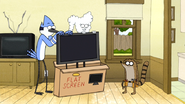 S6E07.065 Mordecai and CJ Taking the Flat Screen Out