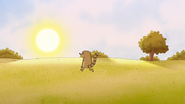 S7E03.182 Rigby Walking Towards the Sunset