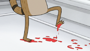 S4E21.045 Rigby With Meatball Stain on His Feet