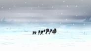 S8E20.002 Park Crew Walking Through the Snow