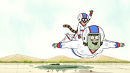 S5E13.124 Muscle Man Soaring to the Finishing Mark