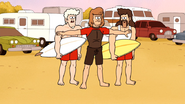 S5E29.108 Hurl Stopping His Friends from Riding the Wave