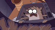 S7E09.349 Rigby Seeing Mordecai Become Chocolate