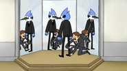 S4E15 Mordecai being fitted for a suit