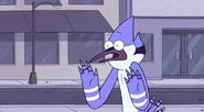 S3E25 Mordecai says he can't bacause he's in a hurry